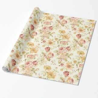 Elegant floral pattern wrapping paper
