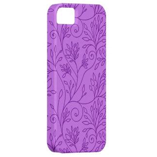 Elegant floral purple iPhone 5 Case