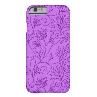 Elegant floral purple iPhone 6 case