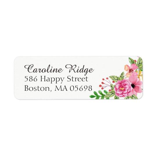 Elegant Floral Return Address Label