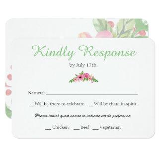 Elegant Floral RSVP Card