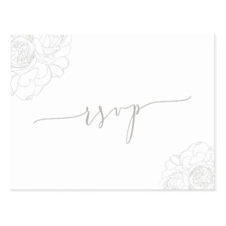 Elegant floral rsvp postcard
