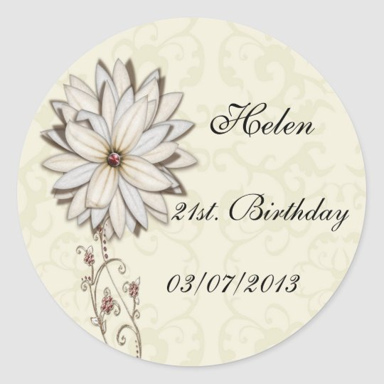 Elegant Floral Save the Date Design Classic Round