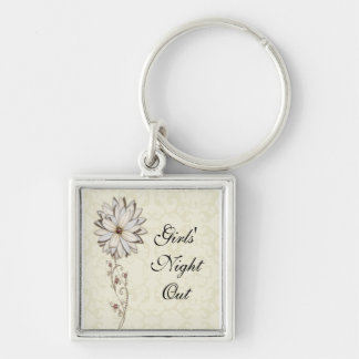 Elegant Floral Save the Date Design Key Ring