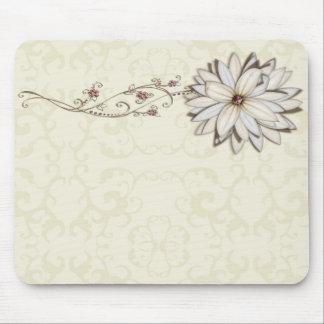 Elegant Floral Save the Date Design Mouse Pad