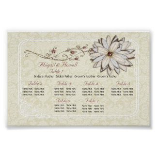 Elegant Floral Seating Charts Poster