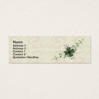 Elegant Floral Shamrock Business Card