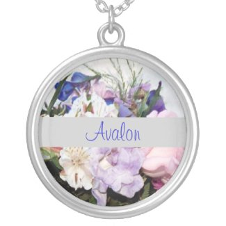 Floral Silver Chain Necklace