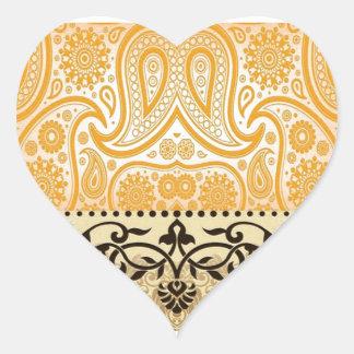 Elegant Floral Heart Sticker