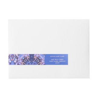 Elegant floral stylish rustic flower pattern wraparound address label
