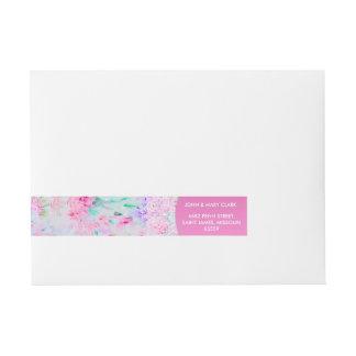Elegant floral stylish rustic pink pattern wraparound address label