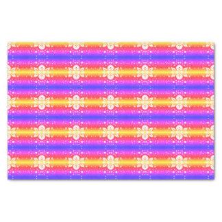 Elegant Floral Tissue Paper Rainbow