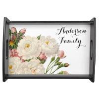 Floral Personalised Serving Tray