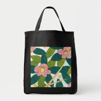Elegant Floral & Vines Canvas Bags