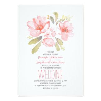 Elegant Floral Watercolor Wedding Invitations