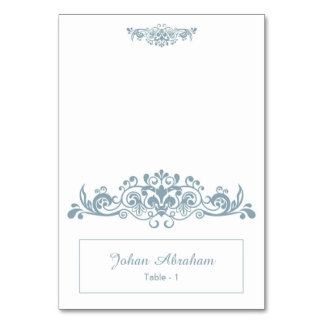 Elegant Floral Wedding Place Card Table Cards