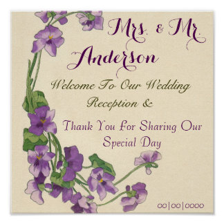 Elegant floral wedding poster