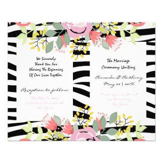 Elegant floral wedding program flyer