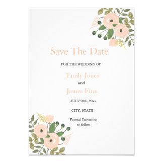 Elegant Floral Wedding Save The Date Invitation