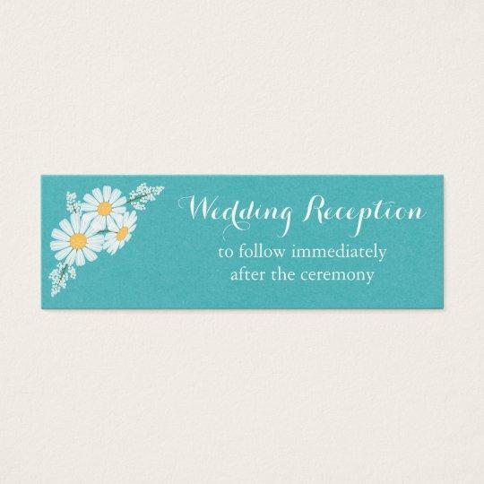 Elegant Floral White Daisies Wedding Reception Mini Business