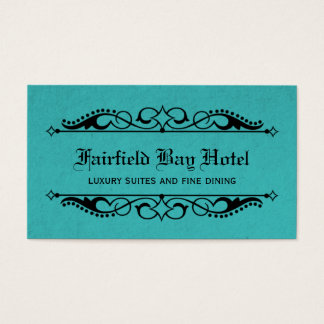 Elegant Flourish Business Card, Teal Business Card