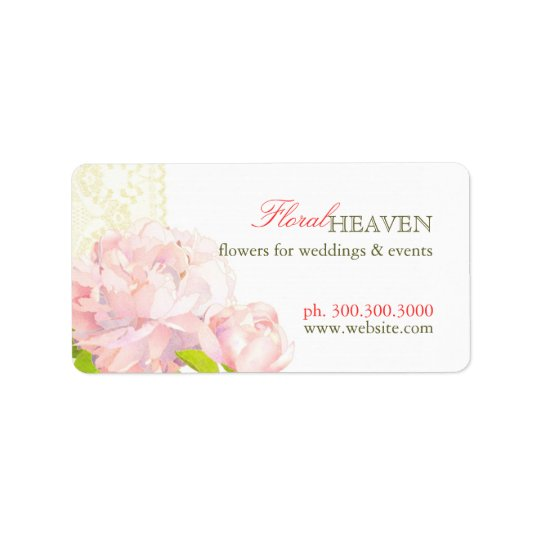 Elegant Flower Business Favour Address Label