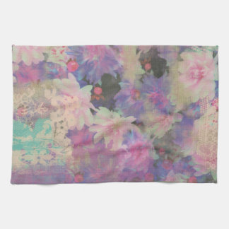 elegant flower floral Pattern Kitchen Towel