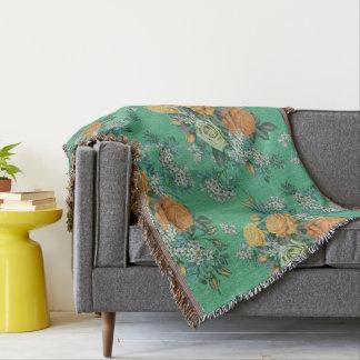 elegant flower floral pattern throw blanket