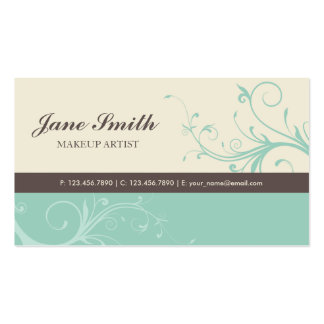 Elegant Flower Floral Retro Modern Stylish Classy Business Cards