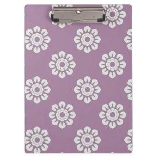 Elegant Flower Pattern Clipboard