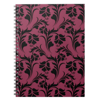 Elegant flower pattern spiral note book