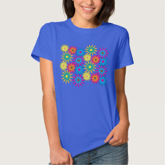 Elegant Flower Power Pretty 1960s Hippie Mod Tee Shirts