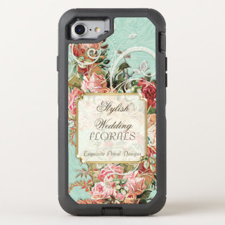 Elegant Flower Wedding Floral Business Advertising OtterBox Defender iPhone 7 Case