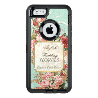 Elegant Flower Wedding Floral Business Advertising OtterBox iPhone 6/6s Case
