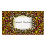 Elegant Flowers, Fruit and Gold Business Cards
