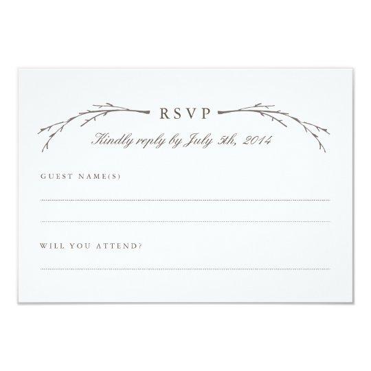 Elegant Forest Wedding RSVP Cards