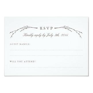 Elegant Forest Wedding RSVP Cards 9 Cm X 13 Cm Invitation Card