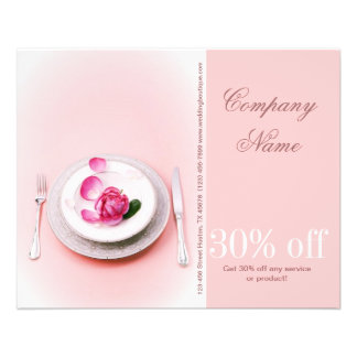 elegant fork knife plate wedding Catering Business 11.5 Cm X 14 Cm Flyer