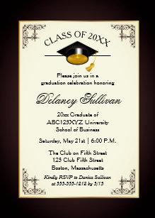 formal graduation invitations zazzle co uk