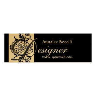 Elegant Formigable Monogram Damask Pack Of Skinny Business Cards