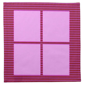Elegant FourSquares - Add your text image Napkin