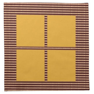 Elegant FourSquares - Add your text image Napkins