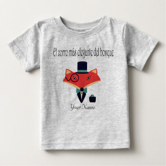 Elegant Fox Spanish Language Baby Jersey T-Shirt