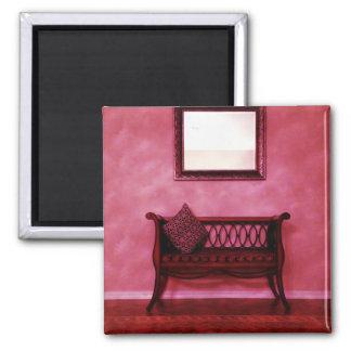 Elegant Foyer Settee Seat Mirror Interior Design Fridge Magnets