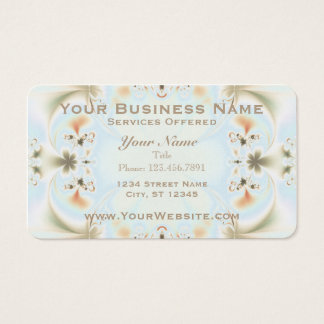 Elegant Fractal Art Business Card