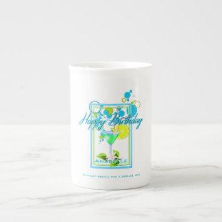 Elegant Frame Vivid Colors Birthday Cocktail Tea Cup