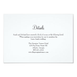 Elegant Frame Wedding Details Card