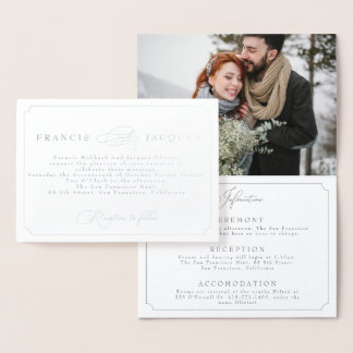 elegant frame wedding invitation with Photograph