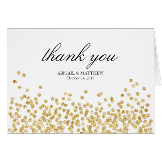 Elegant Frame Wedding Thank You Note Card