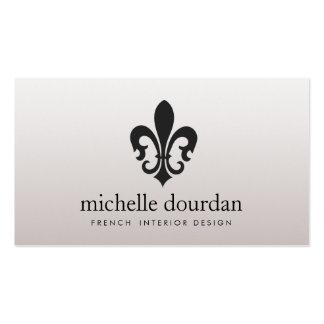 Elegant French Interior Designer Fleur De Lis 2 Pack Of Standard Business Cards